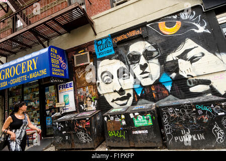 New York, NY - Beastie Boys mural in the Lower East Side of Manhattan - Stock Photo