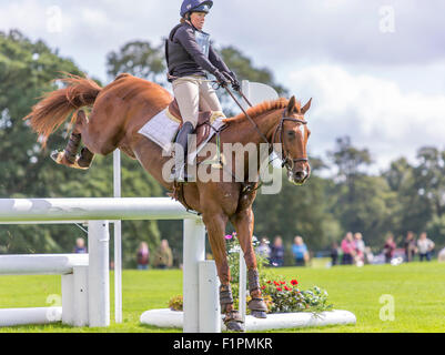 Burghley, Stamford, Lincs, UK. 05th Sep, 2015. Land Rover Burghley Horse Trials. Pippa Funnell on Redesigned Credit: - Stock Photo