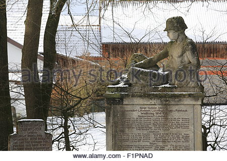 monument to the German soldiers who fell in World War I and II - Stock Photo