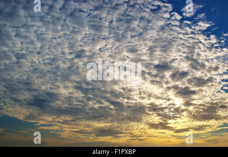 beautiful sunset with clouds. - Stock Photo