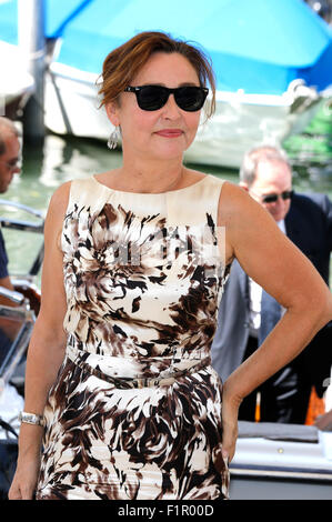 Catherine Frot attending the 'Marguerite' photocall at the 72nd Venice International Film Festival on September - Stock Photo