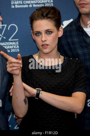 Venice, Italy. 5th September, 2015. Actress Kristen Stewart poses at the photocall of Equals during the 72nd Venice - Stock Photo