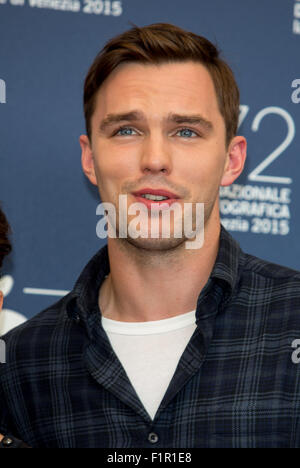 Venice, Italy. 5th September, 2015. Actor Nicholas Hoult poses at the photocall of Equals during the 72nd Venice - Stock Photo