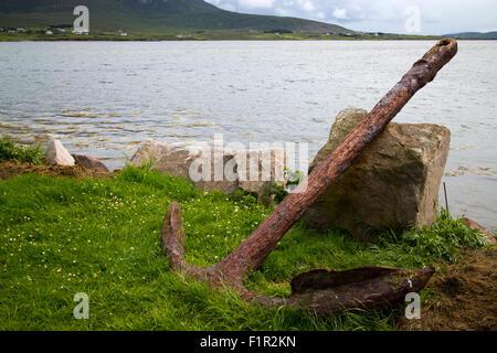 rusty ships anchor Achill Island, County Mayo, Ireland - Stock Photo