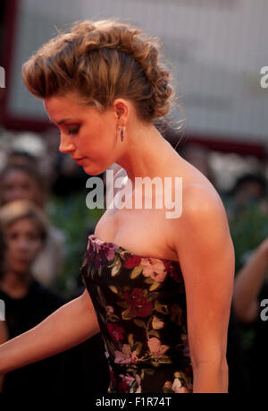 Venice, Italy. 5th September, 2015. at the gala screening for the film The Danish Girl  at the 72nd Venice Film - Stock Photo