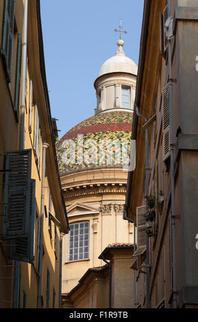 Nice Cathedral in the old town of Nice in the south of France. - Stock Photo