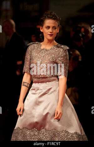 Venice, Italy. 05th Sep, 2015. Actress Kristen Stewart at the gala screening for the film Equals at the 72nd Venice - Stock Photo