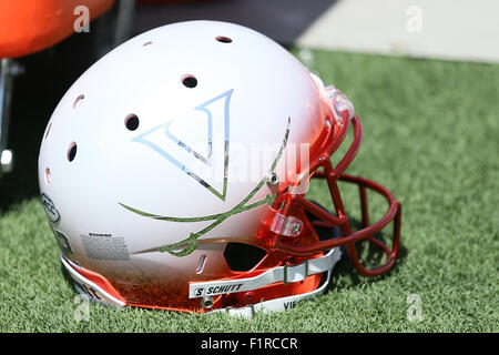 Pasadena, CA. 5th Sep, 2015. A Virginia Cavalier helmet in the game between the Virginia Cavaliers and the UCLA - Stock Photo