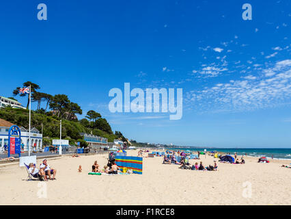 Branksome beach between Poole and Bournemouth, Dorset, England, UK - Stock Photo