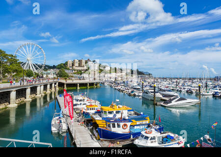 The marina and promenade in Torquay, Torbay, Devon, England, UK - Stock Photo