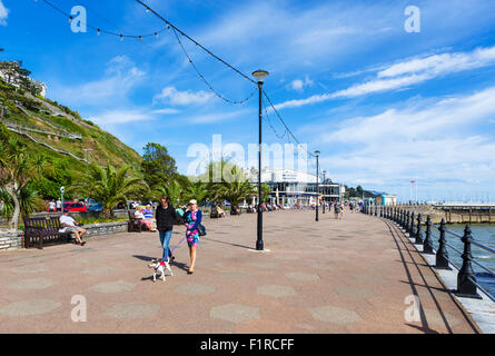 Promenade in Torquay, Torbay, Devon, England, UK - Stock Photo