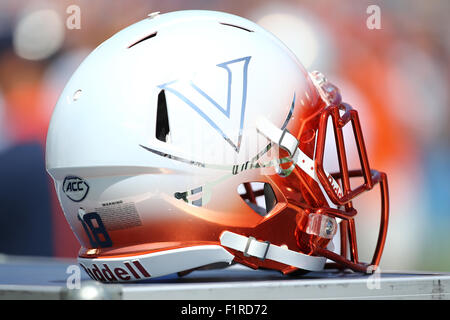 Pasadena, CA. 5th Sep, 2015. Virginia Cavaliers helmet in the game between the Virginia Cavaliers and the UCLA Bruins, - Stock Photo