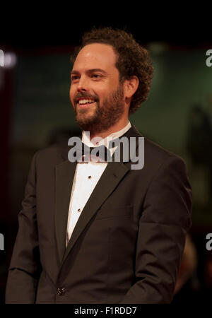 Venice, Italy. 05th Sep, 2015. Director Drake Doremus at the gala screening for the film Equals at the 72nd Venice - Stock Photo