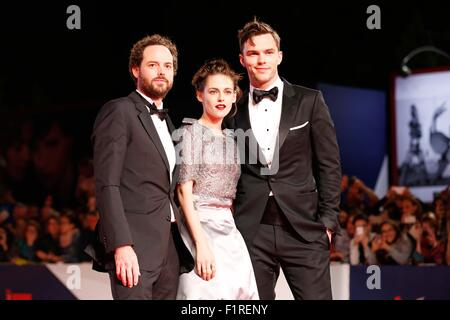 Venice, Italy. 6th Sep, 2015. Drake Doremus, Kristen Stewart, Nicholas Hoult.Equals premiere.72nd Venice Film Festival.Venice, - Stock Photo