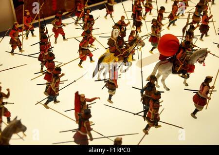 Japanese warrior doll battle in Japan war - Stock Photo