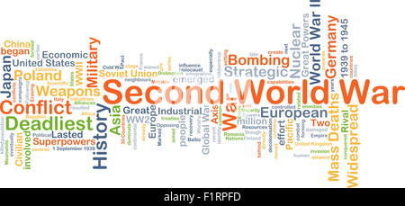 Background concept wordcloud illustration of Second World War - Stock Photo