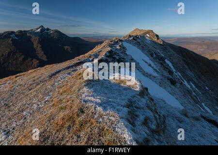 Marsco summit ridge, Isle of Skye, Scotland, UK - Stock Photo