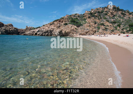 Li Cossi beach at Costa Paradiso, Sardinia, Italy, Mediterranean, Europe - Stock Photo