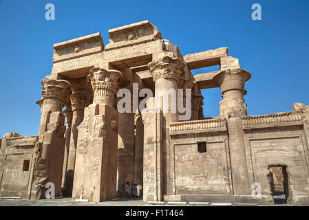 Temple of Haroeris and Sobek, Kom Ombo, Egypt, North Africa, Africa - Stock Photo