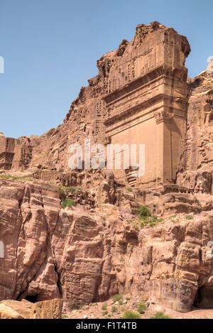 Uneishu Tomb, Petra, UNESCO World Heritage Site, Jordan, Middle East - Stock Photo