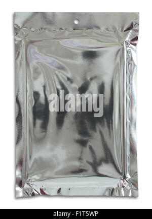 plastic package bag isolated on white - Stock Photo