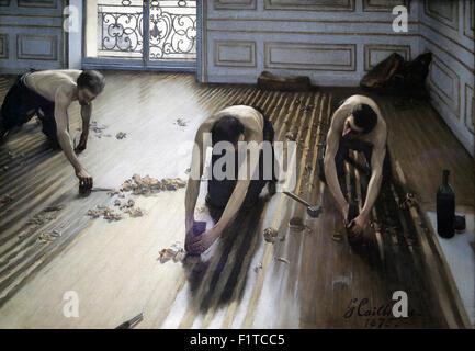 Raboteurs De Parquet 1875 Gustave Caillebotte Orsay