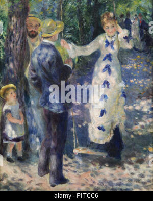 The Swing La balançoire 1876 by Pierre-Auguste Renoir 1841-1919 - Stock Photo