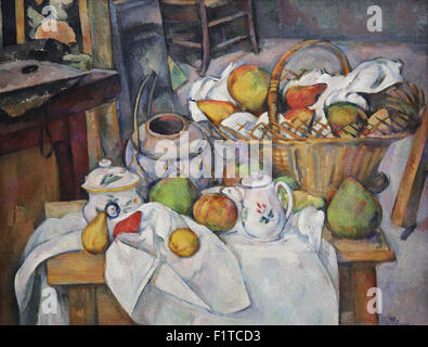 Kitchen Table by Paul Cézanne 1839-1906 - Stock Photo