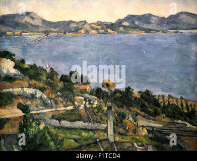 The Gulf the bay of Marseilles from L'Estaque 1879 by Paul Cézanne 1839-1906 - Stock Photo
