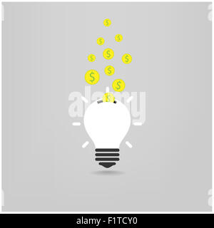 creative light bulb,saving sign,ideas concepts,business background. - Stock Photo