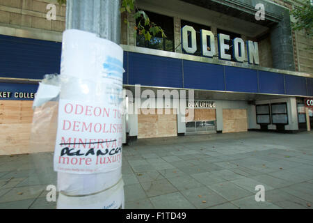 Kensington, London, UK. 7th September, 2015.  The famous Odeon Kensington cinema which is threatened with demolition - Stock Photo