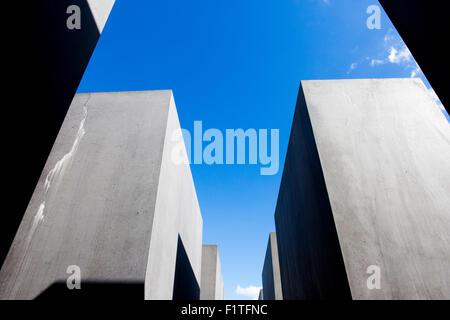 Berlin , Germany. The Memorial to the Murdered Jews of Europe (Denkmal für die ermordeten Juden Europas) - Stock Photo