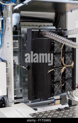 drying device on printing machine close up - Stock Photo