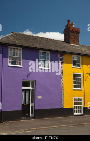 different colour houses in blaker row of terraced houses