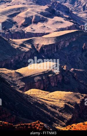 Scene from Lipan Point, Grand Canyon south rim, Arizona - Stock Photo
