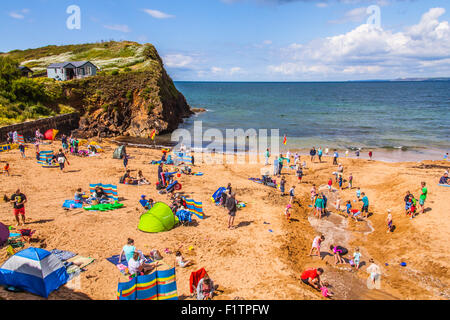 Outer Hope Cove Beach in Devon, England, United Kingdom. - Stock Photo