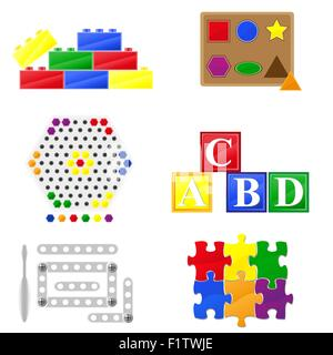 icons educational toys for children vector illustration - Stock Photo