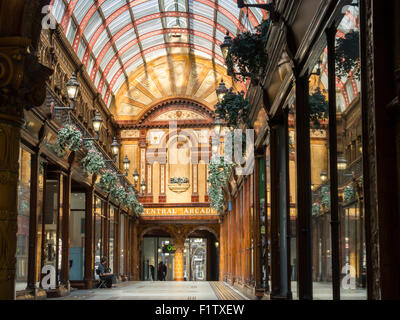Interior of Central Arcade, Newcastle upon Tyne, England - Stock Photo