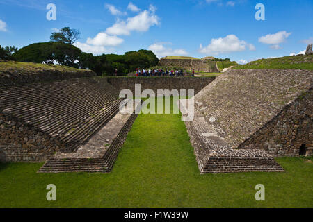 The ZAPOTEC BALL COURT at MONTE ALBAN which dates back to 500 BC - OAXACA, MEXICO - Stock Photo