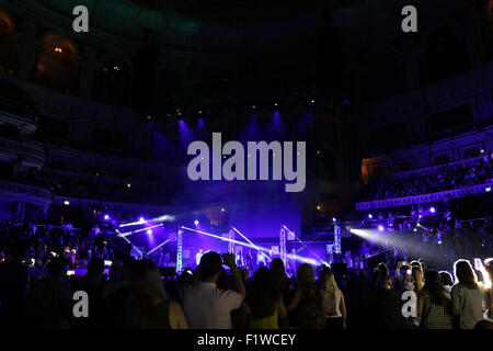 London, UK, 7th June 2015: Atmosphere at the Frankie & Benney's Rays of Sunshine Concert at The Royal Albert Hall - Stock Photo