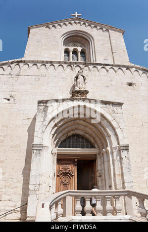 Cathedral Notre-Dame-du-Puy, Le Puy Cathedral, Grasse, Alpes-Maritimes department, France - Stock Photo