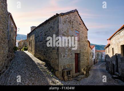 Portugal, the Beira Alta, Linhares street - Stock Photo