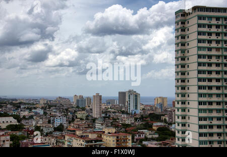 Havana Overview of Buildings - Cuba - Stock Photo