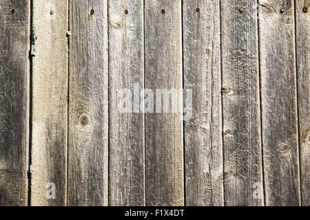close up of old wooden fence. - Stock Photo