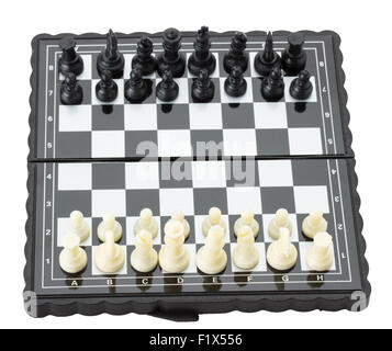 black and white chess on the board. - Stock Photo