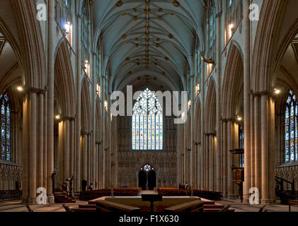 The nave of york minster city of york yorkshire england for West window york minster