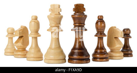chess isolated on the white background. - Stock Photo