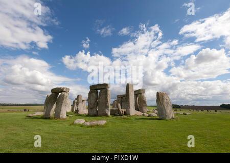 Stonehenge prehistoric neolithic monument and UNESCO World heritage Site, Wiltshire, England UK - Stock Photo