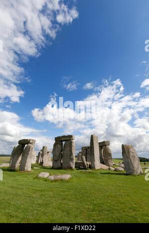 Stonehenge prehistoric neolithic monument, UNESCO world heritage site, Wiltshire England UK - Stock Photo