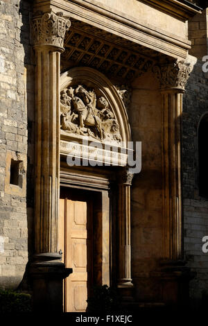 Side entrance to the St. George's Basilica in Prague, Czech Republic, Europe - Stock Photo